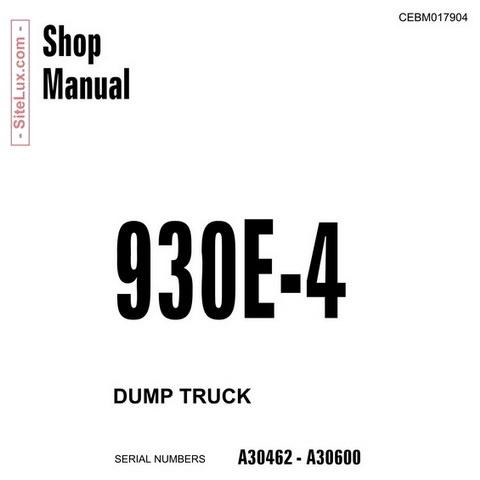 Komatsu 930E-4 Dump Truck Shop Manual - CEBM017904