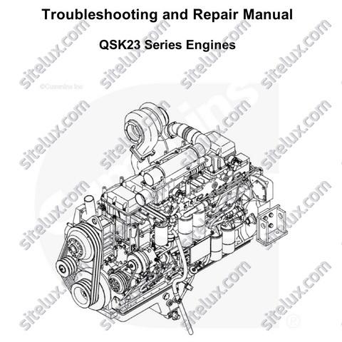 Cummins QSK23 Series Engines Troubleshooting and Repair Manual