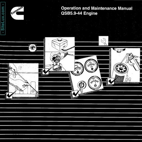 Cummins QSB5.9-44 Engine Operation and Maintenance Manual
