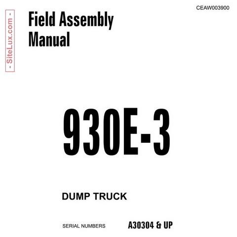 Komatsu 930E-3 Dump Truck Field Assembly Manual - CEAW003900