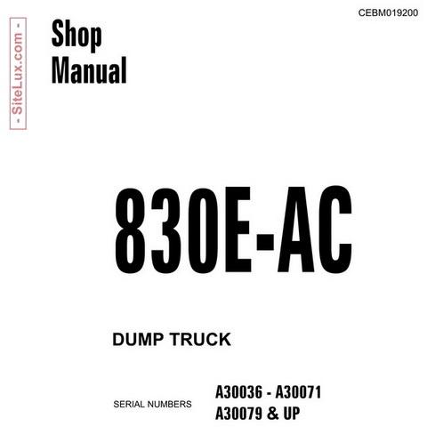 Komatsu 830E-AC Dump Truck Shop Manual - CEBM019200