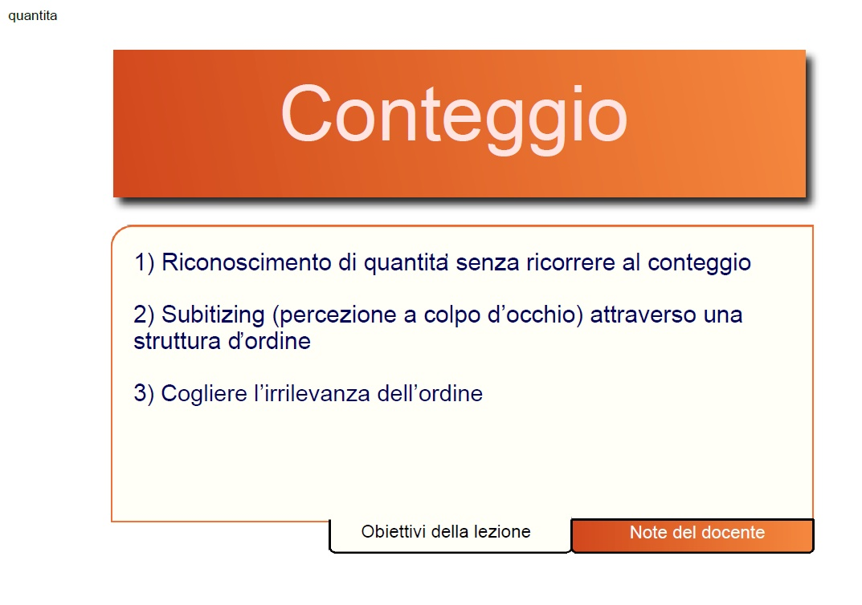 Conteggio Subitizing