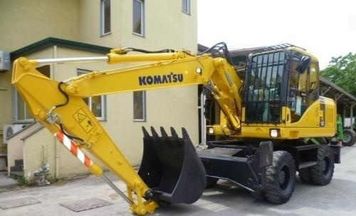 KOMATSU PW140-7 WHEELED EXCAVATOR SERVICE REPAIR MANUAL