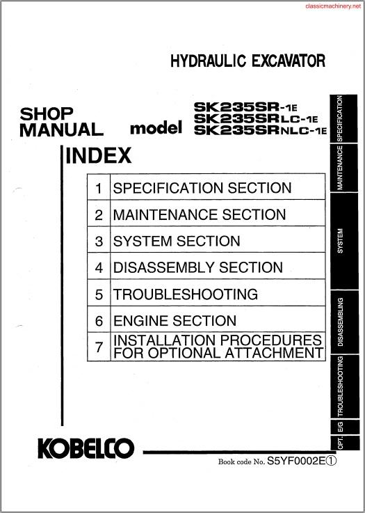 service manual kobelco sk235-sr-1e, 235-srlc