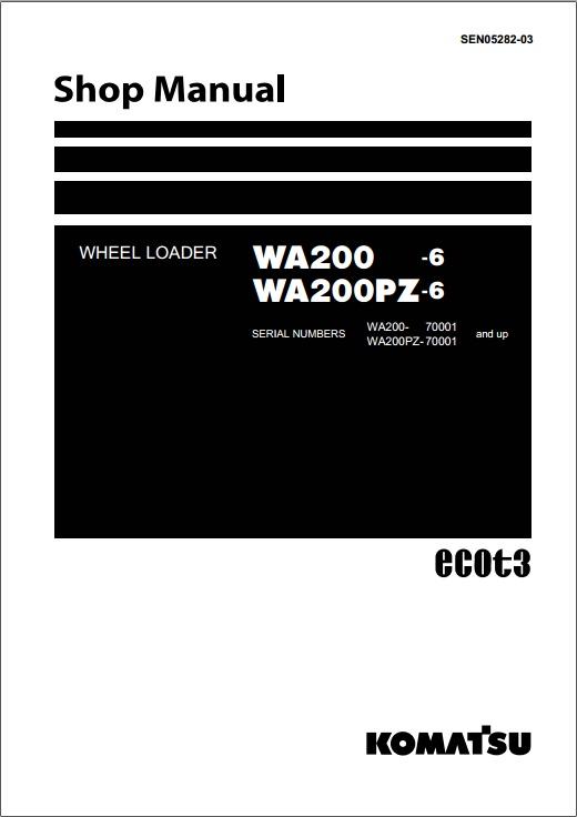 shop manual komatsu wa200-6,wa200pz-6
