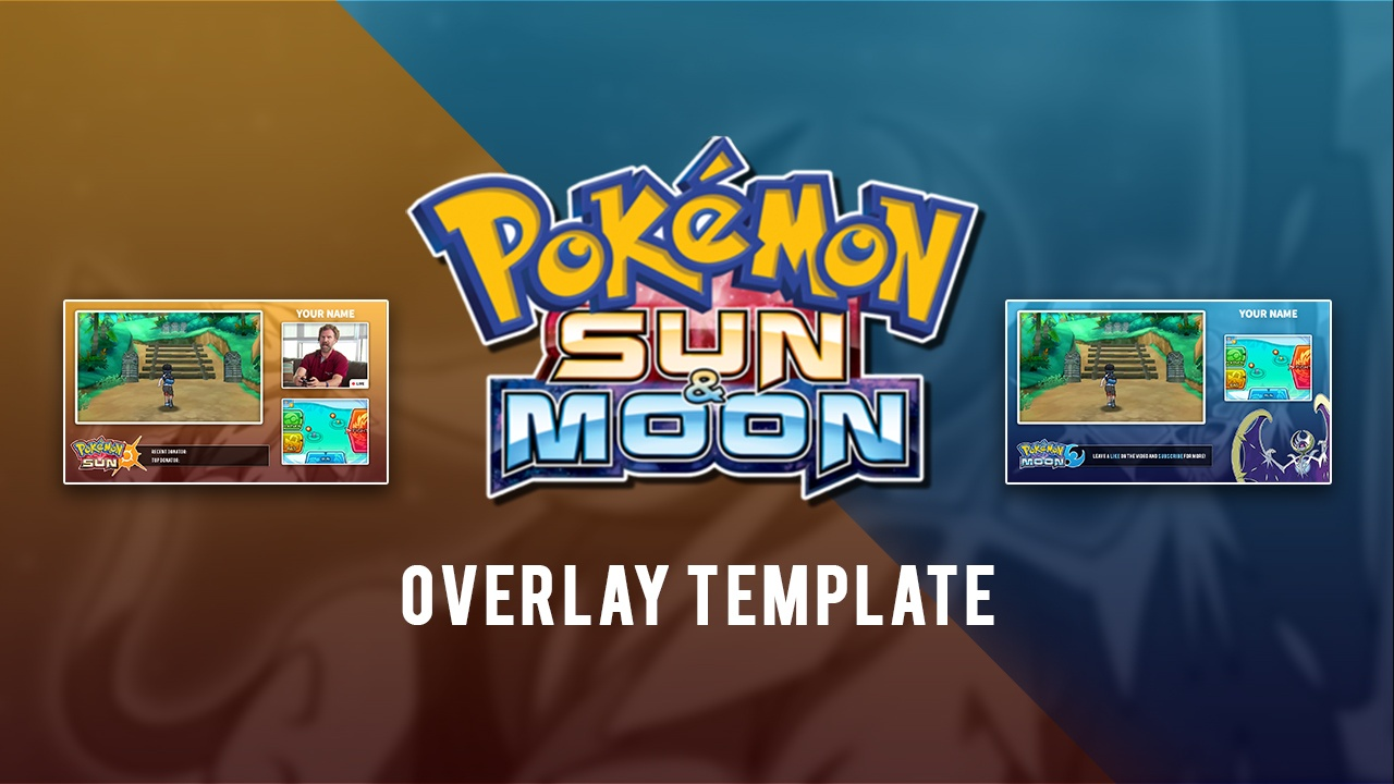 Pokémon Sun and Moon Video/Stream Overlay Template