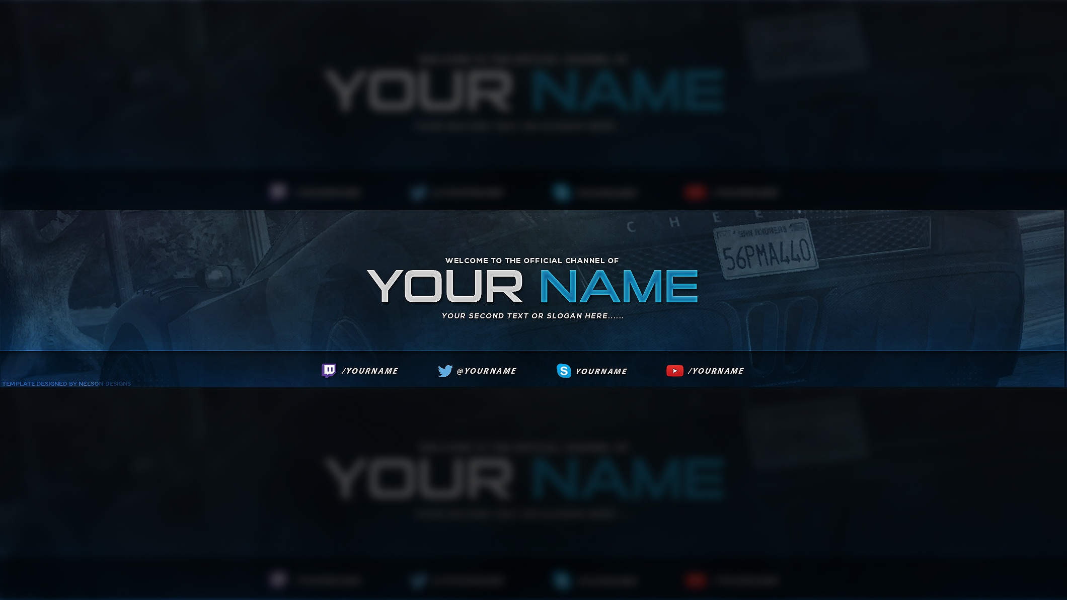 YouTube Channel Design Template