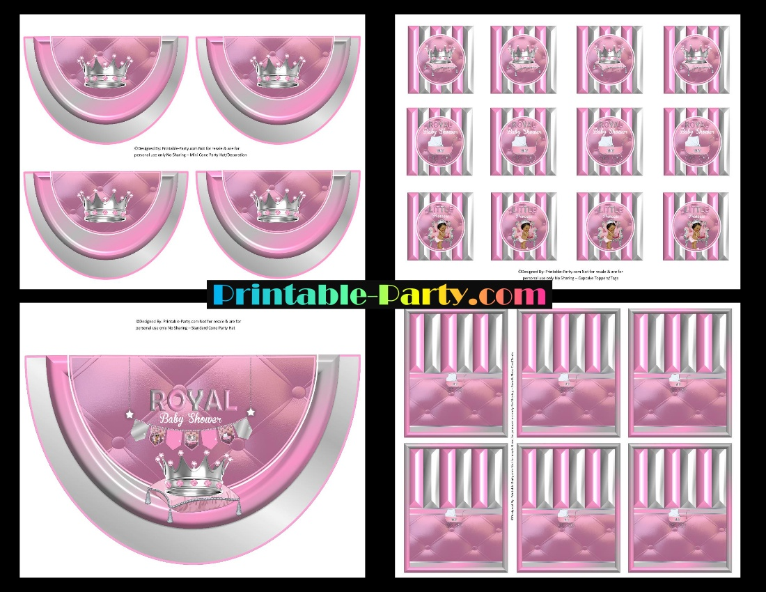 Royal Little Princess Pink Themed Printable Baby Shower