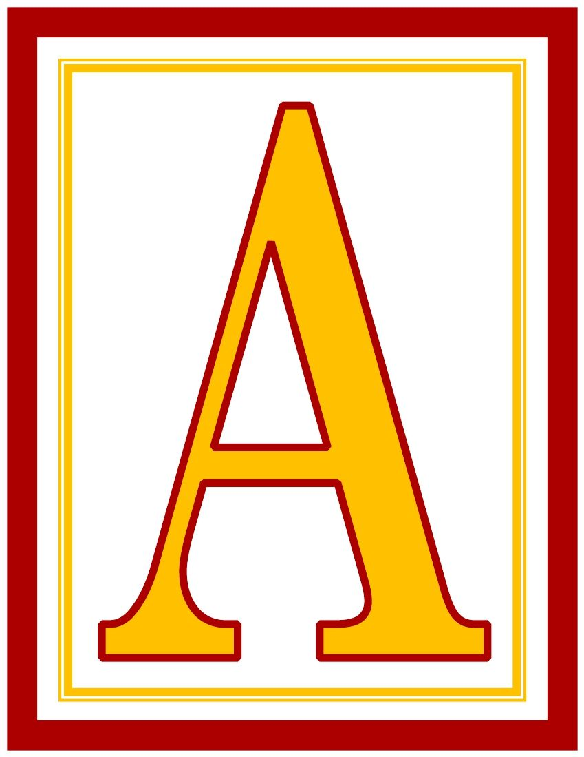 red-dark-golden-yellow-rectangle-banner-printable-alphabet-letters-a-z