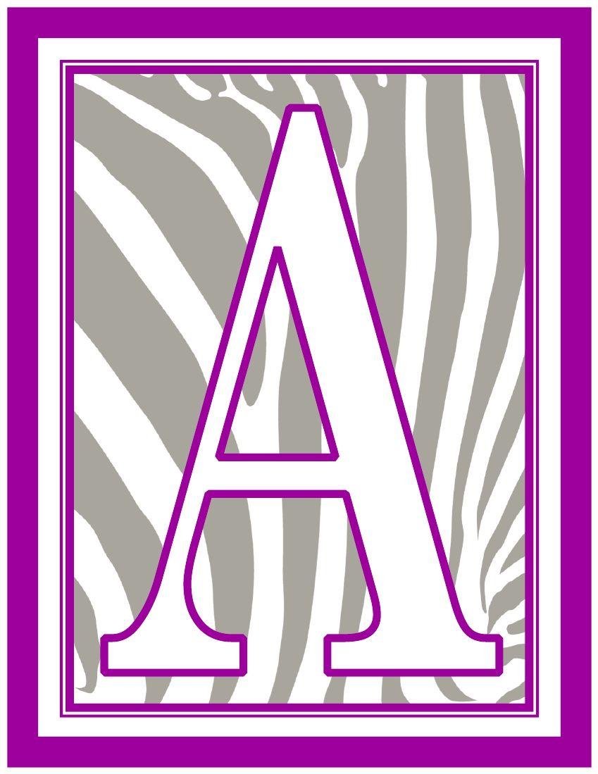 8.5x11-inch-purple-white-grey-zebra-rectangle-banner-printable-alphabet-letters-a-z