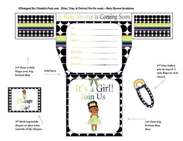 black-white-polka-dots-frog-princess-diaper-girl-printable-baby-shower-invitation