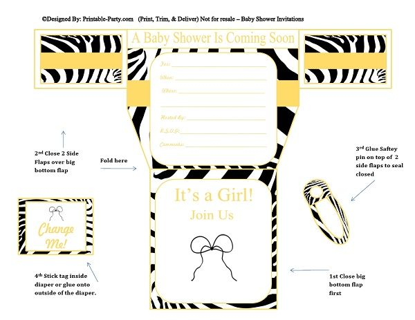gold-yellow-zebra-diaper-girl-printable-baby-shower-invitation