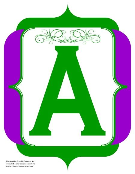fancy-green-purple-printable-banners-letters-numbers