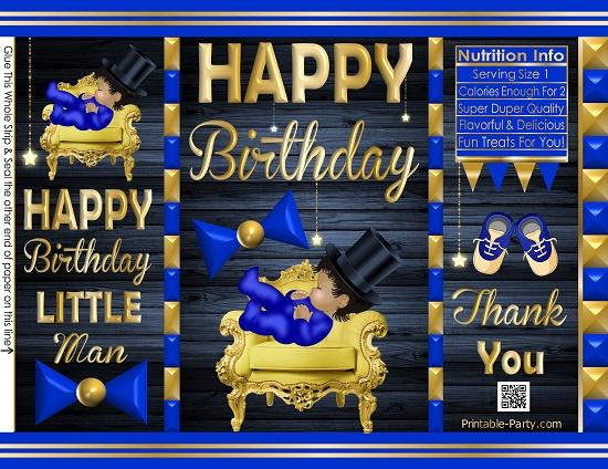 POTATO-chip-treat-favor-bags-little-man-Birthday-bluegold