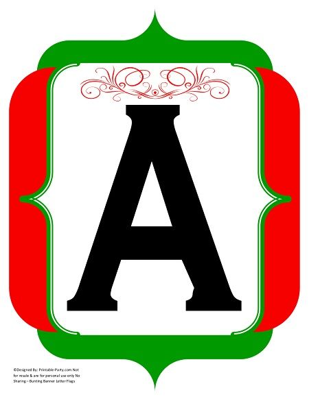 fancy-black-red-green-printable-banners-letters-numbers