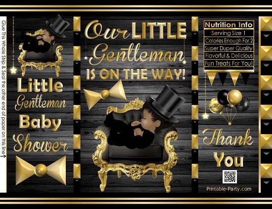 POTATO-chip-treat-favor-bags-little-gentleman-BABY-SHOWERblackgold