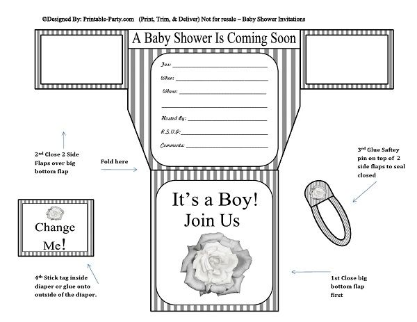 grey-white-stripes-flower-diaper-boy-printable-baby-shower-invitation