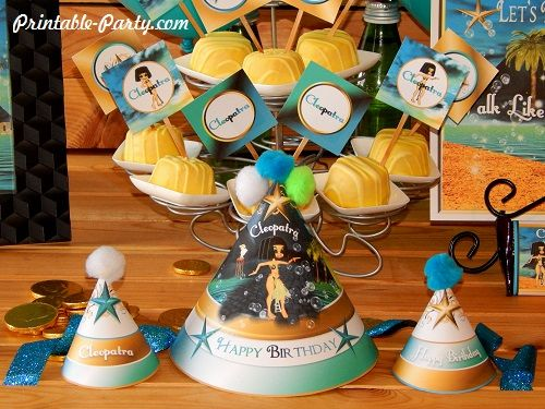 cleopatra-queen-nile-theme-party-printables-birthday-hats