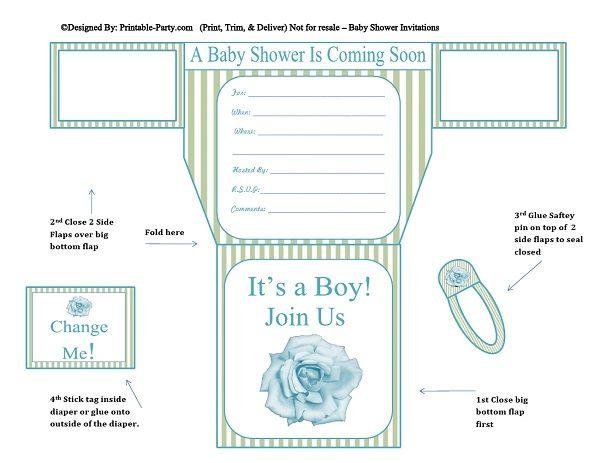 green-stripes-blue-flower-diaper-boy-printable-baby-shower-invitation
