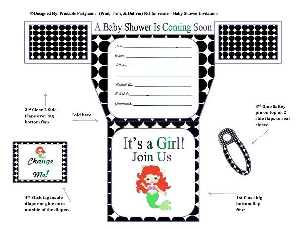 black-white-polka-dots-mermaid-diaper-girl-printable-baby-shower-invitation