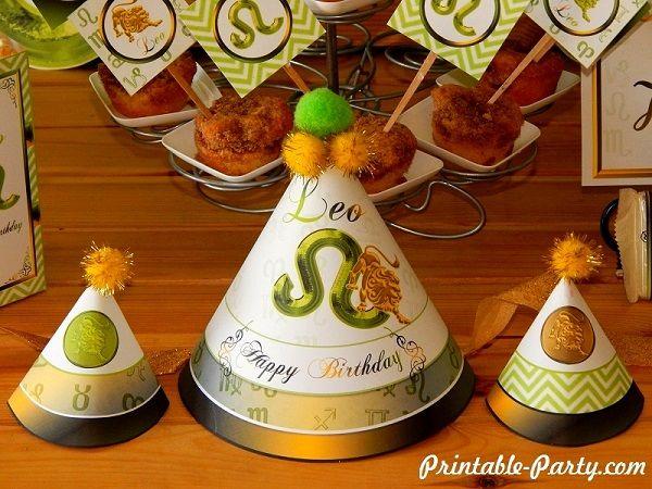 leo-printable-zodiac-party-supplies-hats