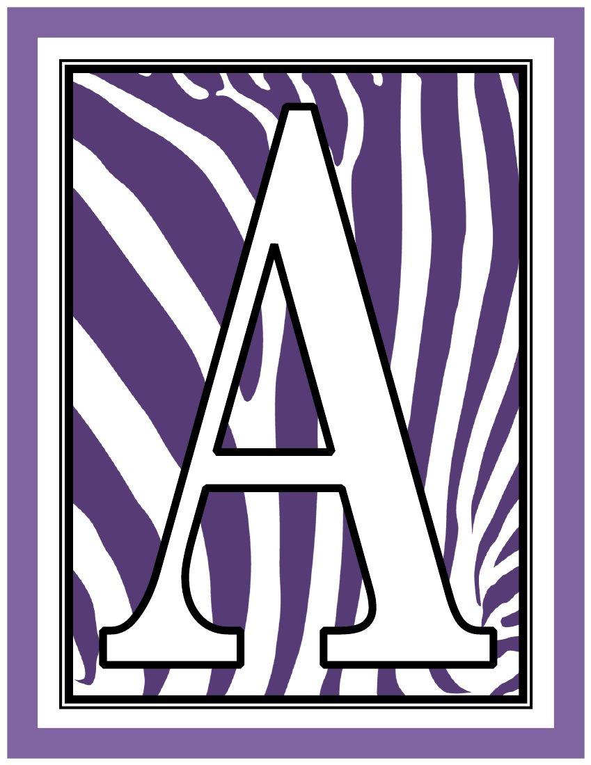 8.5x11-inch-purple-zebra-rectangle-banner-printable-alphabet-letters-a-z