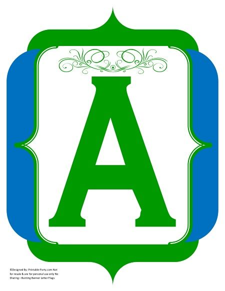 fancy-green-blue-printable-banners-letters-numbers