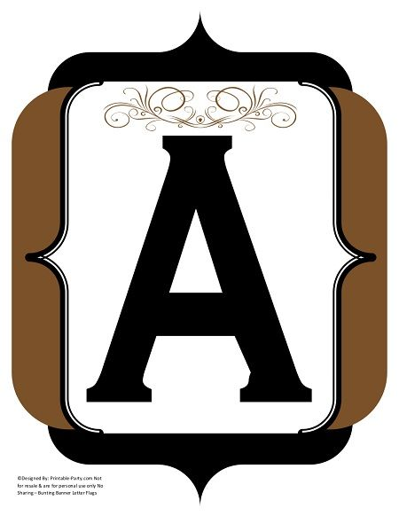 fancy-black-brown-printable-banners-letters-numbers