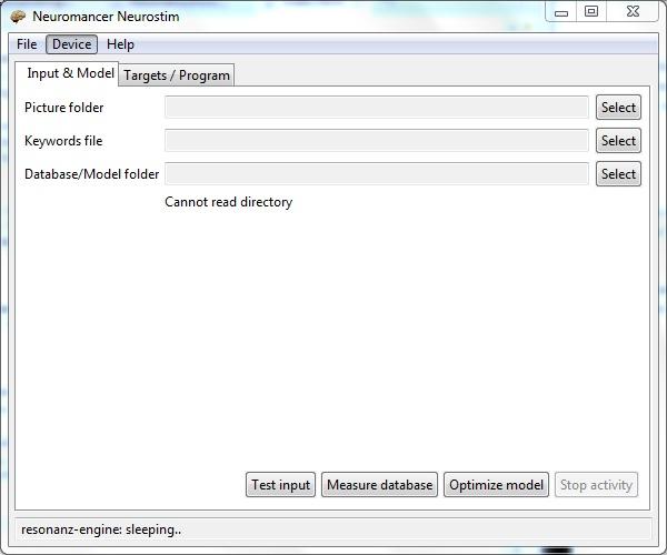 Neuromancer neurostim software (Interaxon Muse 2014)