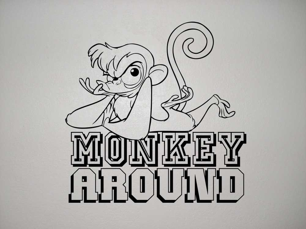 monkey around vector wall art image