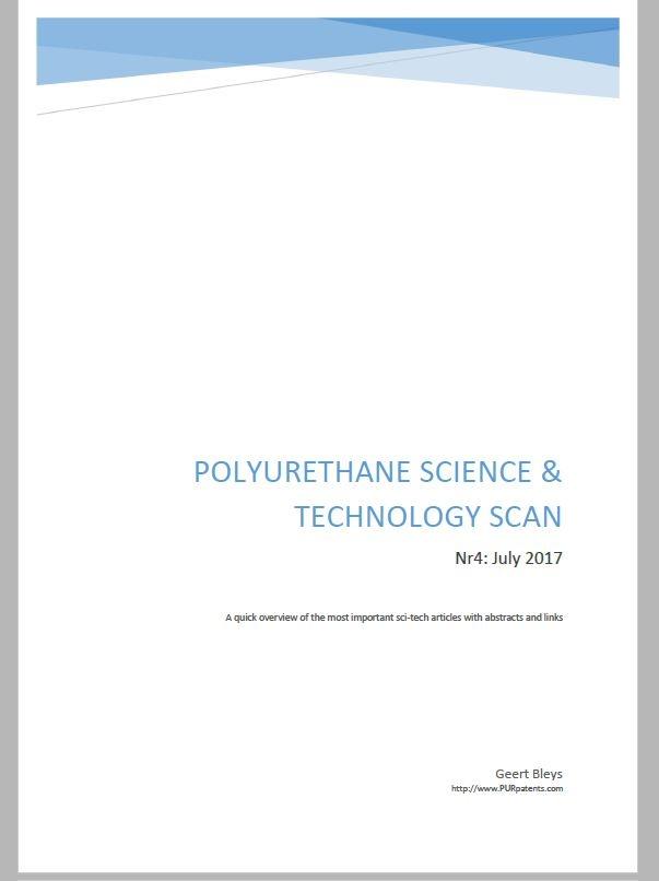 Polyurethane Science & Technology scan - Nr4 : July 2017