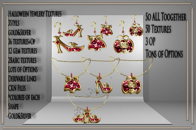 Halloween BIG Jewelry Textures NO Resell!!