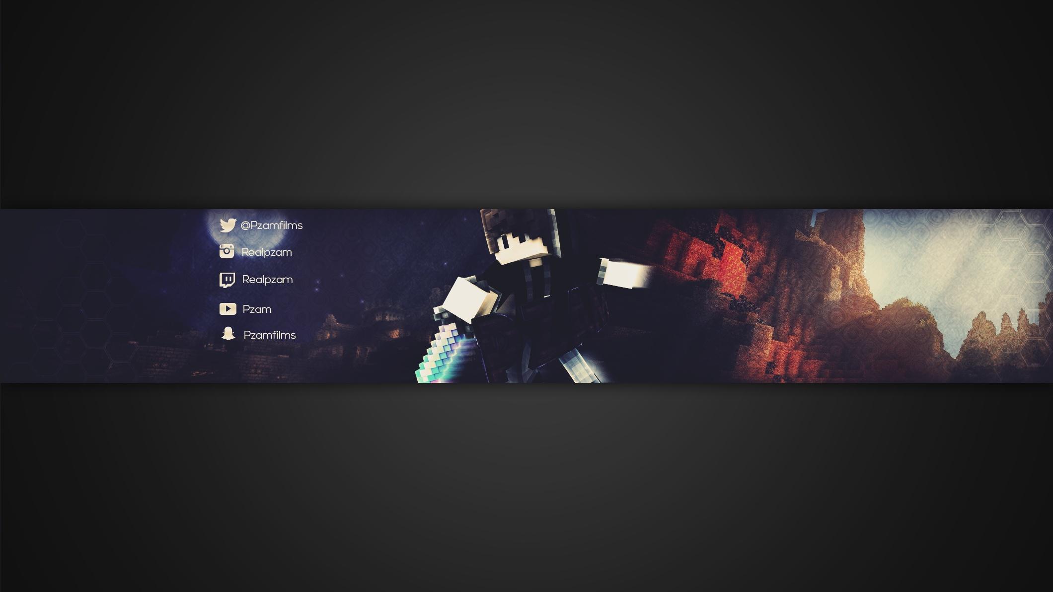YouTube Minecraft Banner