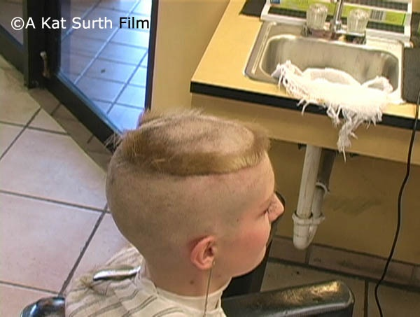 Kat's Crown Haircut in Barbershop - VOD Digital Video on Demand