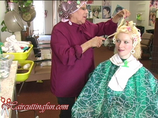 Kat's Bleach and Variocurler Set at Beauty Salon - VOD Digital Video on Demand