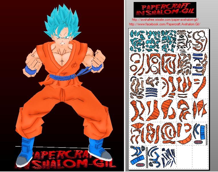 Papercraft -GOKU Super Saiyan Blue