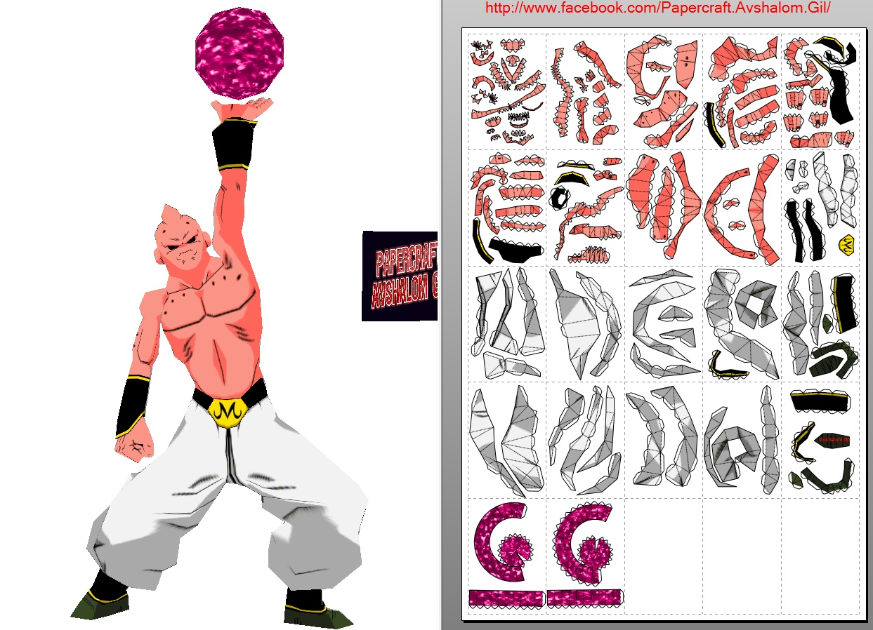 Papercraft dbz_super Buu