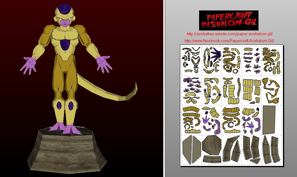Papercraft Golden Frieza