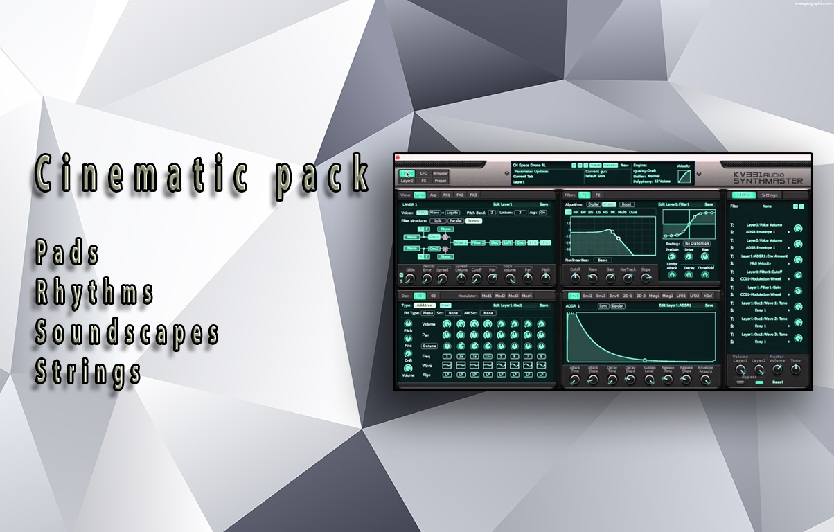 Cinematic pack - presets for Synthmaster 2.8