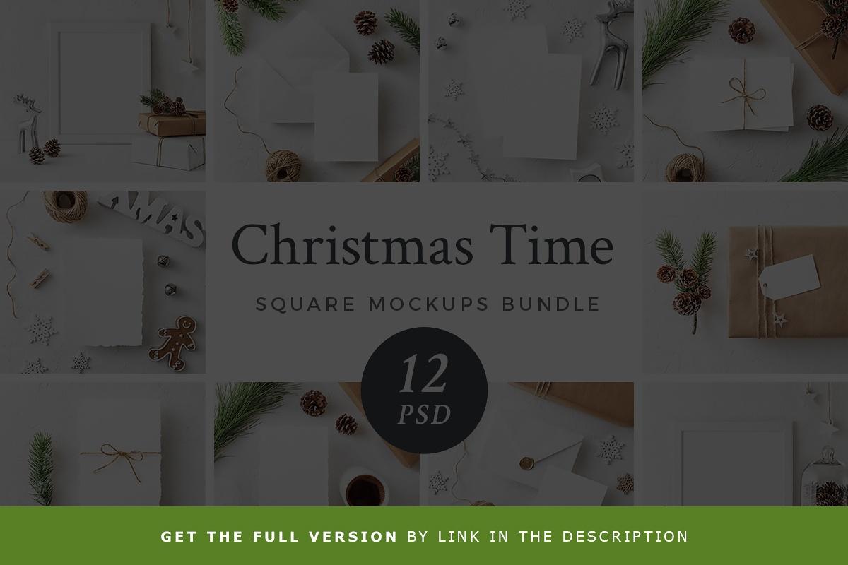 Free Christmas Greeting Card Mockup