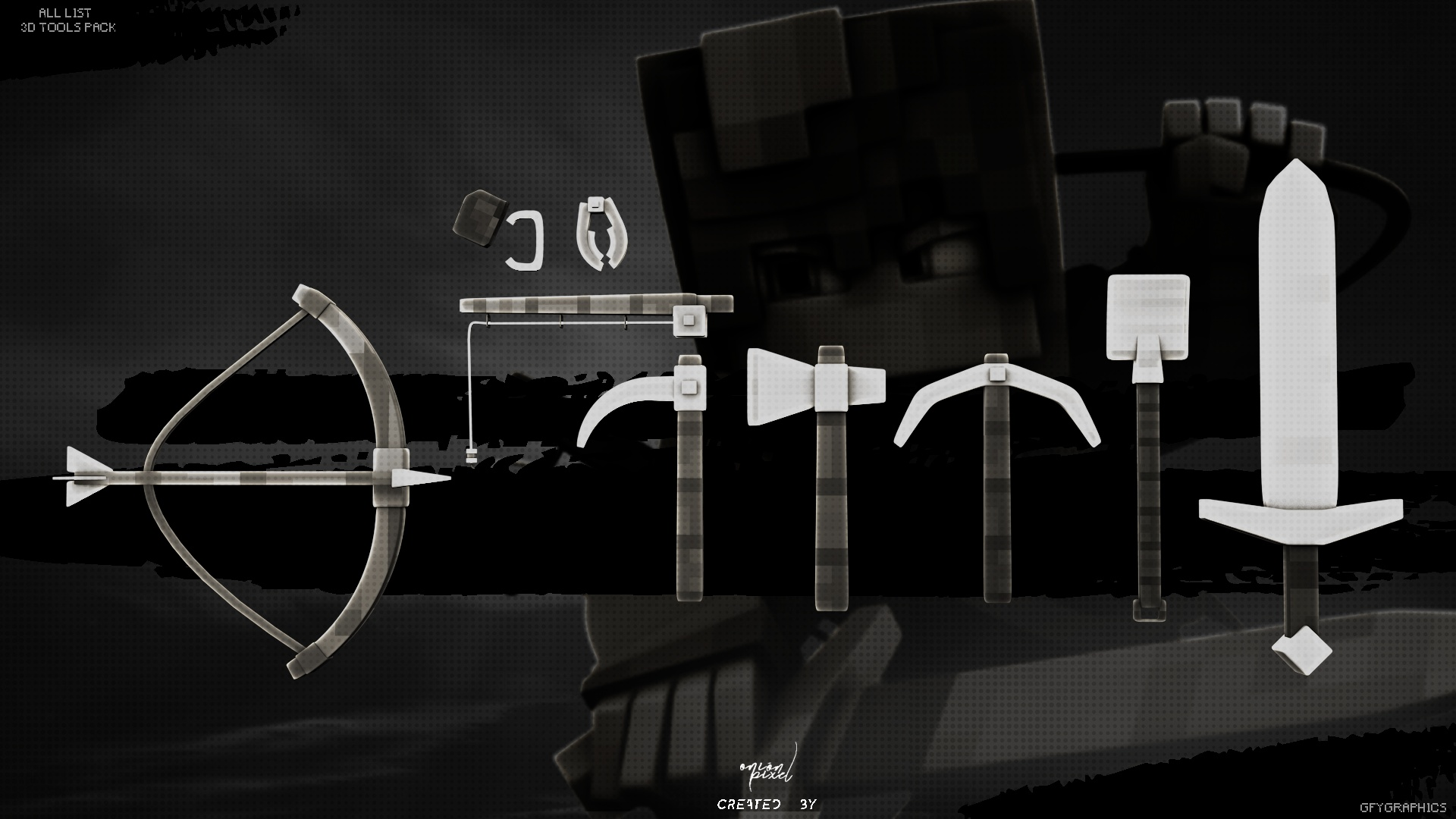 3.D Minecraft Tools » Model Pack
