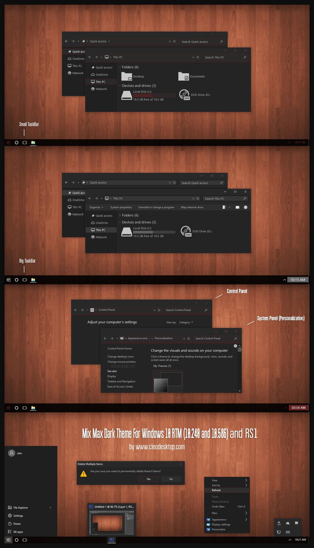 Max Mix Dark Theme For Windows 10