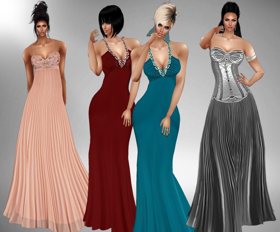 3 Long dresses