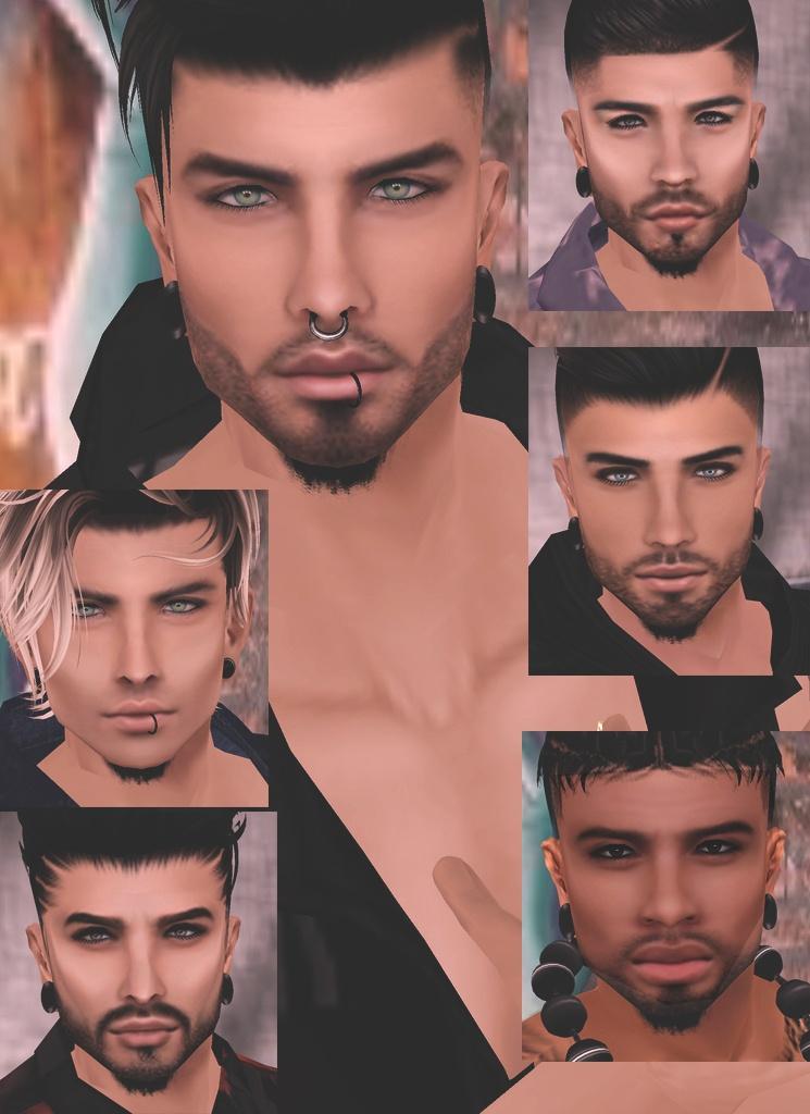 Male Mesh Heads Pack 1