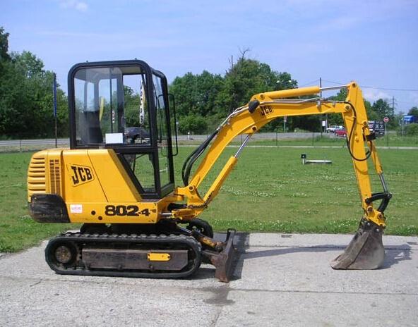JCB 802, 802.4, 802 Super Mini Excavator Service Repair Workshop Manual DOWNLOAD