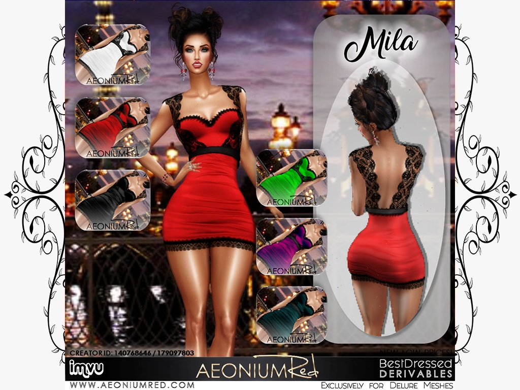 IMVU File Sale! Mila 6 Bundles Texture Pack $3