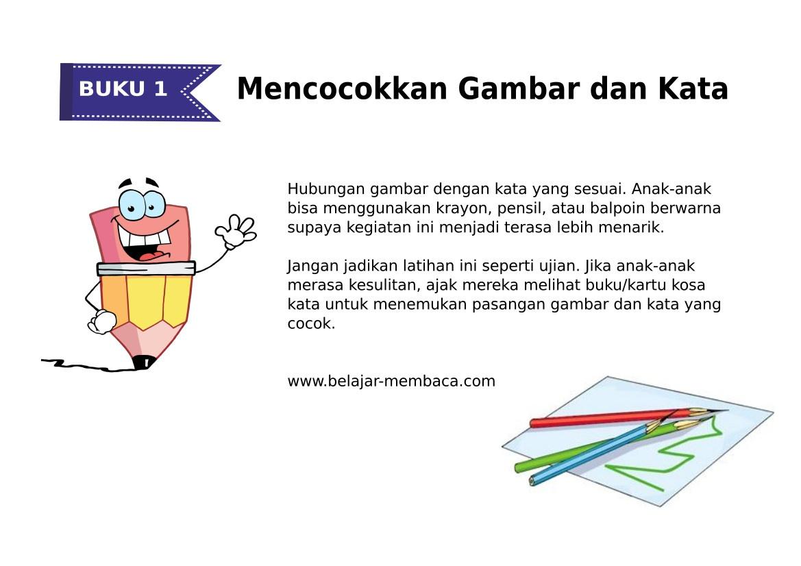 Mencocokkan Kata & Gambar - Bahasa Indonesia (Buku 1)