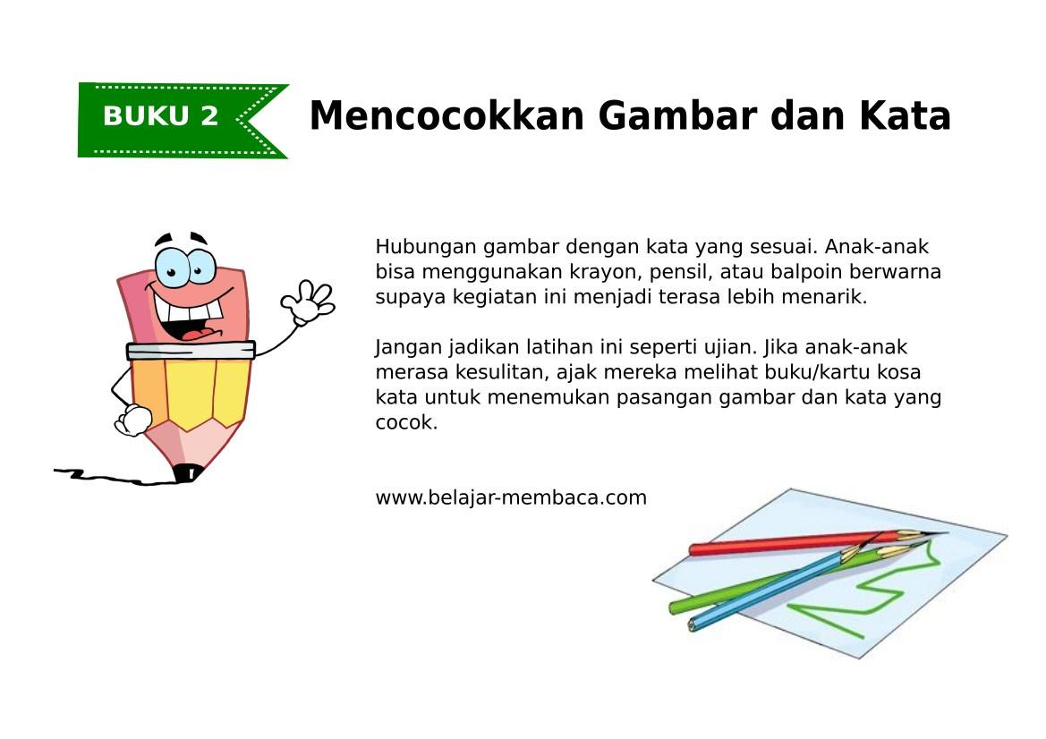 Mencocokkan Kata & Gambar  - Bahasa Indonesia (Buku 2)