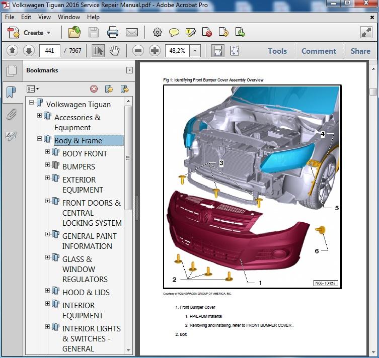 volkswagen tiguan 2016 repair manual servicemanualspdf rh sellfy com vw tiguan repair manual volkswagen tiguan service manual