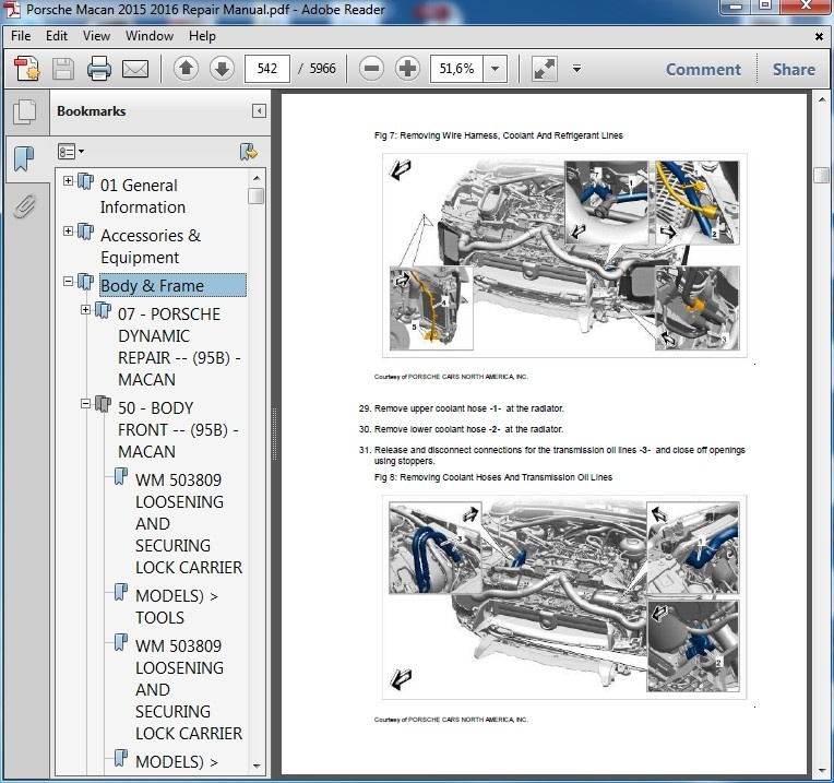 Porsche Macan 2015 2016 Repair Manual